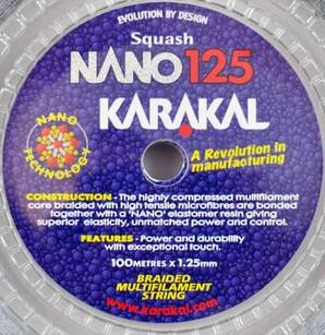 Naciąg Do Squasha Karakal Nano 125 Set
