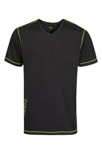 T-shirt 12457 RSL Black/Lime